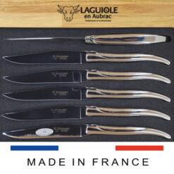 all stainless steel laguiole en aubrac steak knives