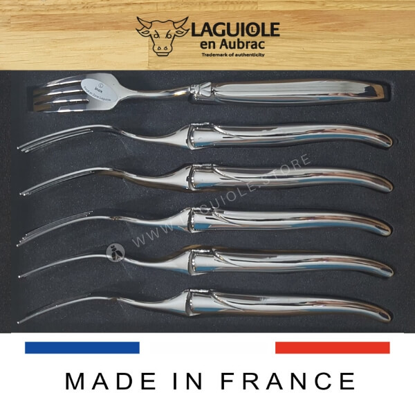all stainless steel shiny laguiole dinner forks