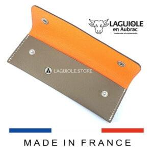 bicolor laguiole leather sheath for waiters corkscrews