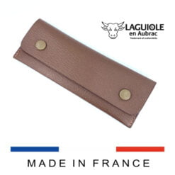 bicolor leather belt sheath for knives and waiters corkscrews