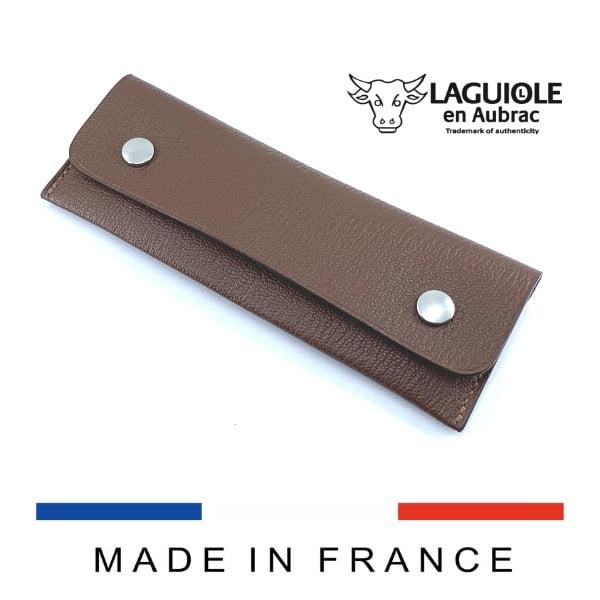 bicolor leather belt sheath for knives or sommelier