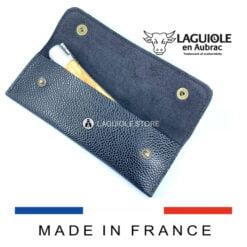 black leather sheath for pocket knives