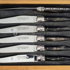 buffalo horn laguiole en aubrac steak knives set of 6