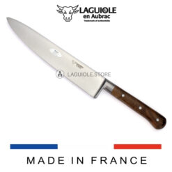 chef knife laguiole walnut wood handle