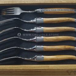 dinner forks olivewood laguiole en aubrac