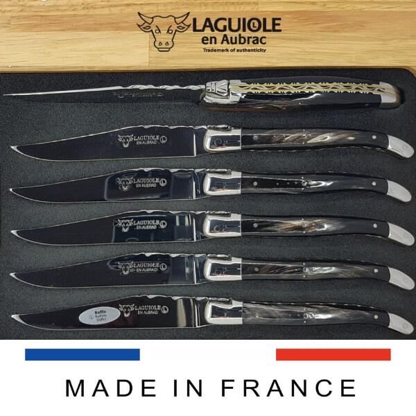double plates laguiole steak knives set of 6