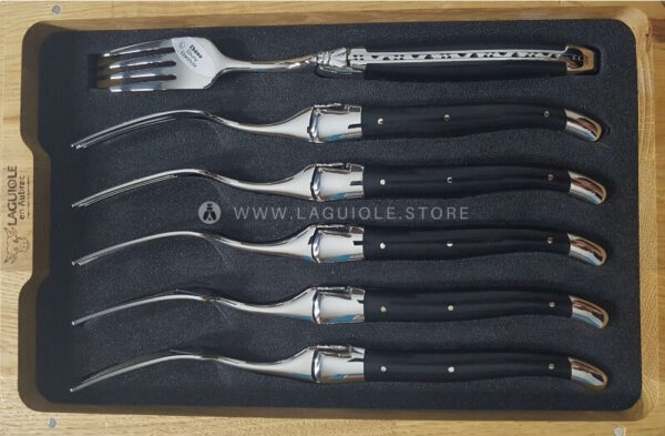 ebony wood laguiole dinner forks