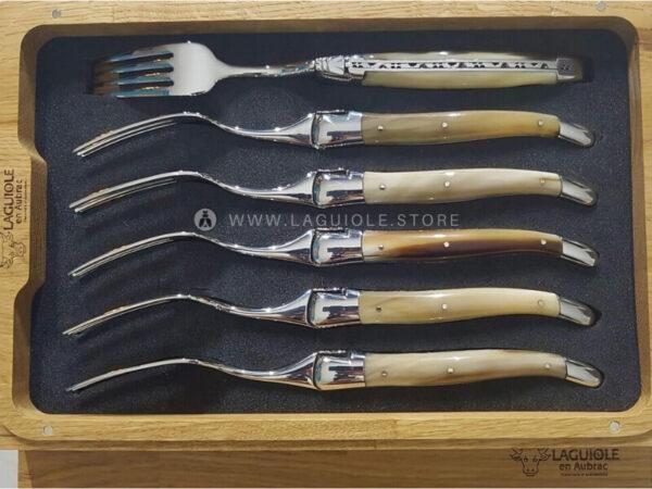 horn tip laguiole dinner forks