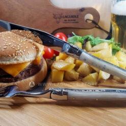 knife and fork laguiole horn tip