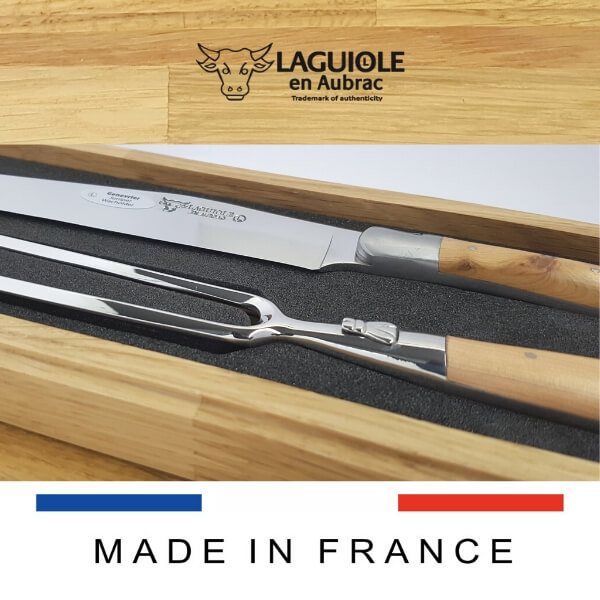 laguiole carving juniper wood hande