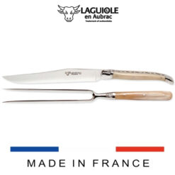 laguiole carving set horn tip