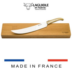 laguiole champagne sabre and oak box horn tip handle