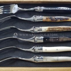 laguiole dinner forks mixed horn and bone
