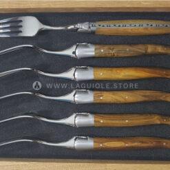 laguiole dinner forks set pistachio handle satin polish