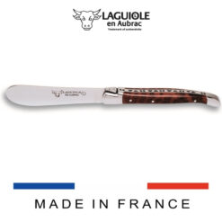 laguiole en aubrac butter knife snakewood handle