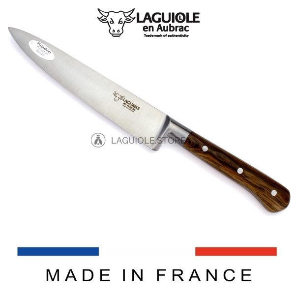 laguiole en aubrac chef knife pistachio wood handle