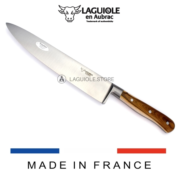 laguiole en aubrac chef knife pistachio wood