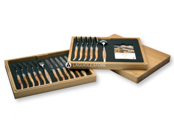 laguiole en aubrac cutlery set 12 or 18 piece