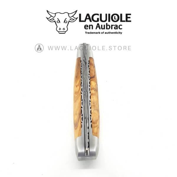 laguiole en aubrac damas blade olivewood handle