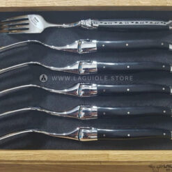 laguiole en aubrac dinner foks ebony wood