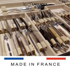 laguiole en aubrac flatware set 28 piece mixed horns