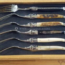 laguiole en aubrac forks mixed horn and bone