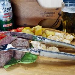 laguiole en aubrac knife and fork horn tip laguiole