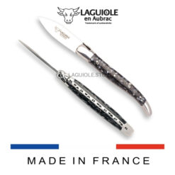 laguiole en aubrac oyster knife handle made of mussels shells