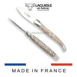 laguiole en aubrac oyster knife handle made of oyster shells