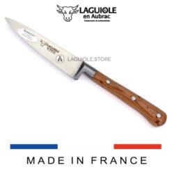 laguiole en aubrac paring knife juniper wood