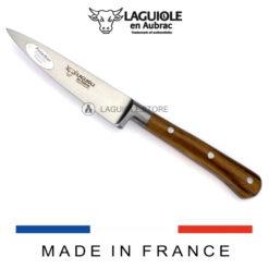 laguiole en aubrac paring knife pistachio wood