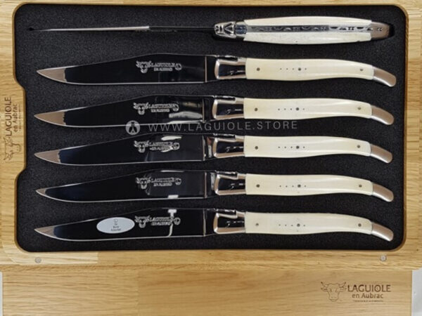 laguiole en aubrac table knives beef bone