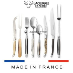 laguiole flatware set 28 piece mixed horns