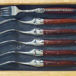 laguiole forks snakewood handle