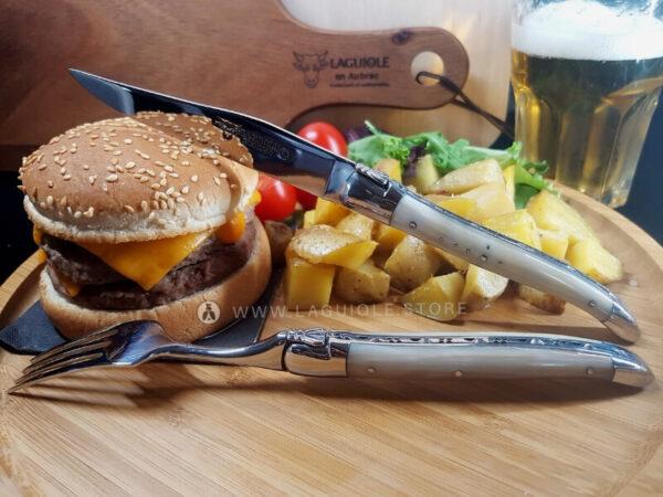 laguiole knife and fork horn tip laguiole