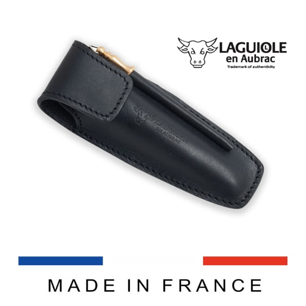laguiole leather sheath and sharpening steel