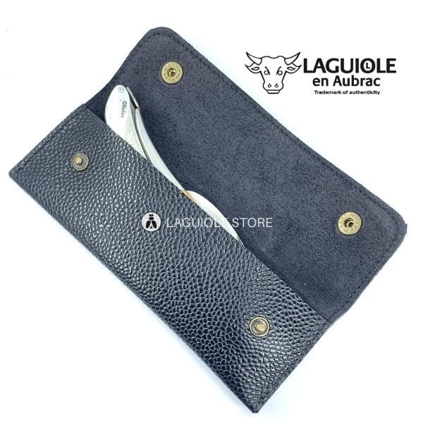 laguiole leather sheath black for waiters corkscrews