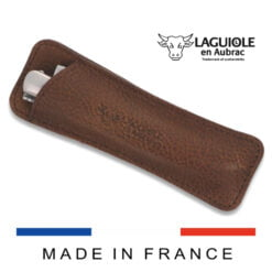laguiole leather sleeve brown