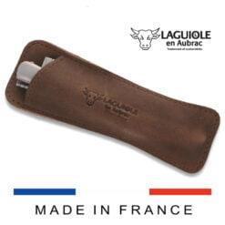 laguiole leather sleeve vintage