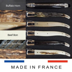 laguiole mixed horns set of 6