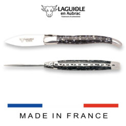 laguiole oyster knife made of recycled mussels shells