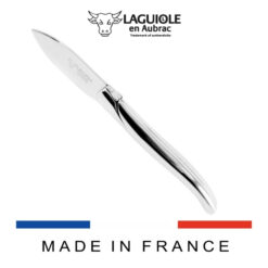 laguiole oyster knife shiny polish stainless steel handle