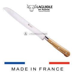laguiole serrated bread knife olive wood