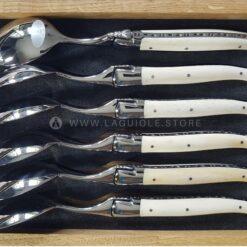 laguiole soup spoons bone handle