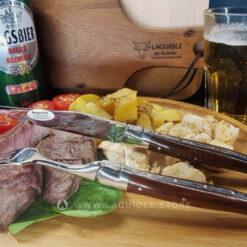 laguiole steak knife and fork snakewood
