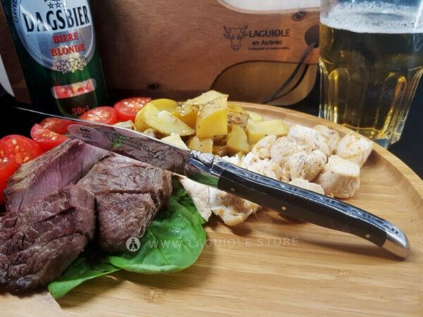 laguiole steak knife buffalo bark horn