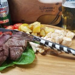 laguiole steak knife checkered inlay bone-ebony