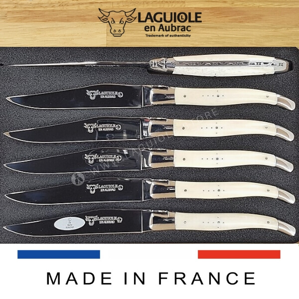 laguiole steak knives beef bone set of 6