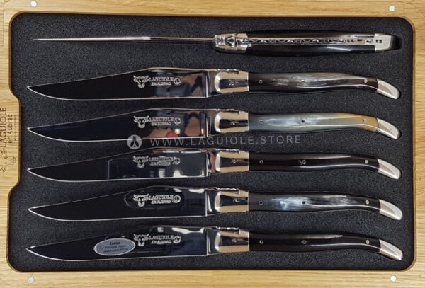 laguiole steak knives set pressed horn