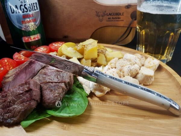 laguiole table knife horn tip